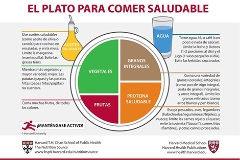Healthy Eating Plate Spanish translation