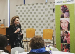 Felicia Knaul at Women and Health event