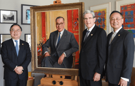 Portrait of T.H. Chan unveiled during Commencement Week