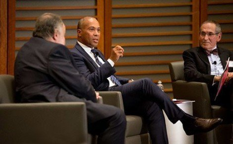 Deval Patrick with Leonard Marcus and Barry Dorn
