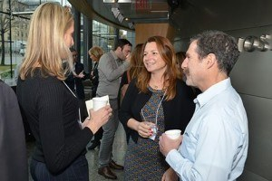 Lorelei Mucci, center, with Harvard Chan Professor Meir Stampfer and symposiun speaker Loren Lipworth, of Vanderbilt