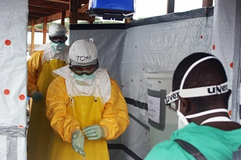 Health workers during the Ebola epidemic.