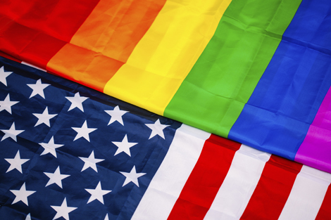 LGBT and American flag