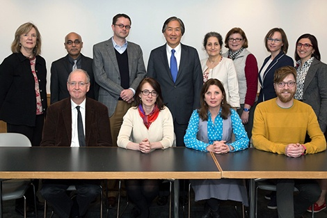 Faculty and staff members from the Culture of Health program; Principal Investigator Howard Koh is in the second row, fourth from left