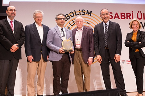 Group photo on stage at the Sabri Ulker Symposium 2018