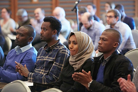 Audience members at the State of Global Health Symposium