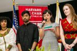 Students announcing at award ceremony