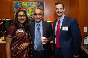 "Padmini Somani, K. ""Vish"" Viswanath, director of the India Research Center, and Glenn Hanna, an oncologist at Dana-Farber Cancer Institute"