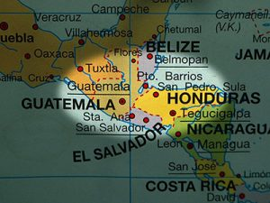 Central America-Northern Triangle map