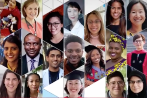 Composite image of graduating students