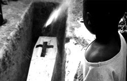 """First prize winner in 2008 HSPH Student Photo Contest: """"A Light,"""" (Maputo, Mozambique) by Oriana Maria Ramirez Rubio"""