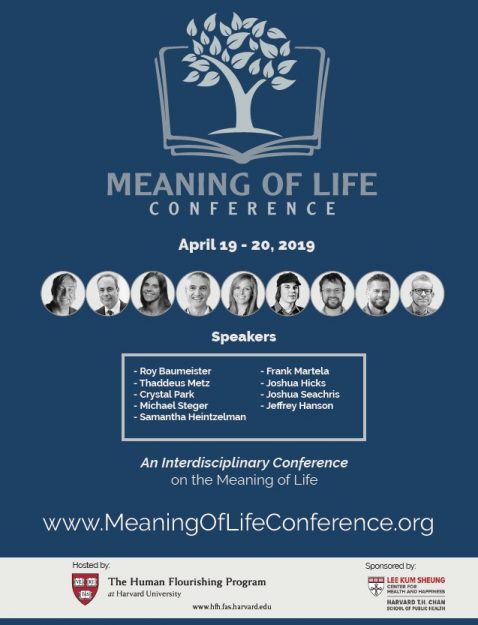 Meaning of Life Conference April 19-20, 2019 poster