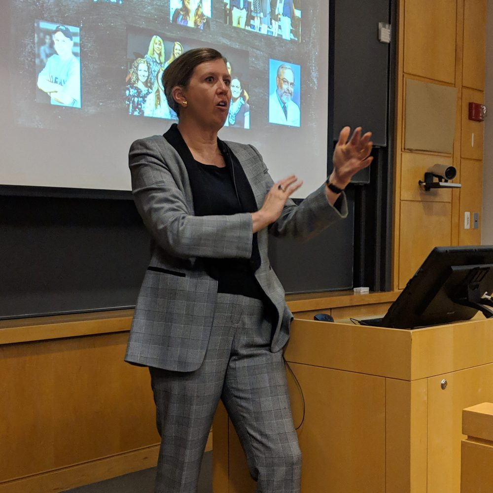 Suzanne Segerstrom speaking at seminar series