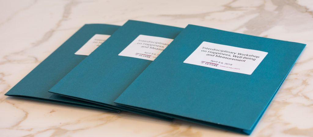 Folders from Interdisciplinary Workshop on Happiness, Well-Being, and Measurement