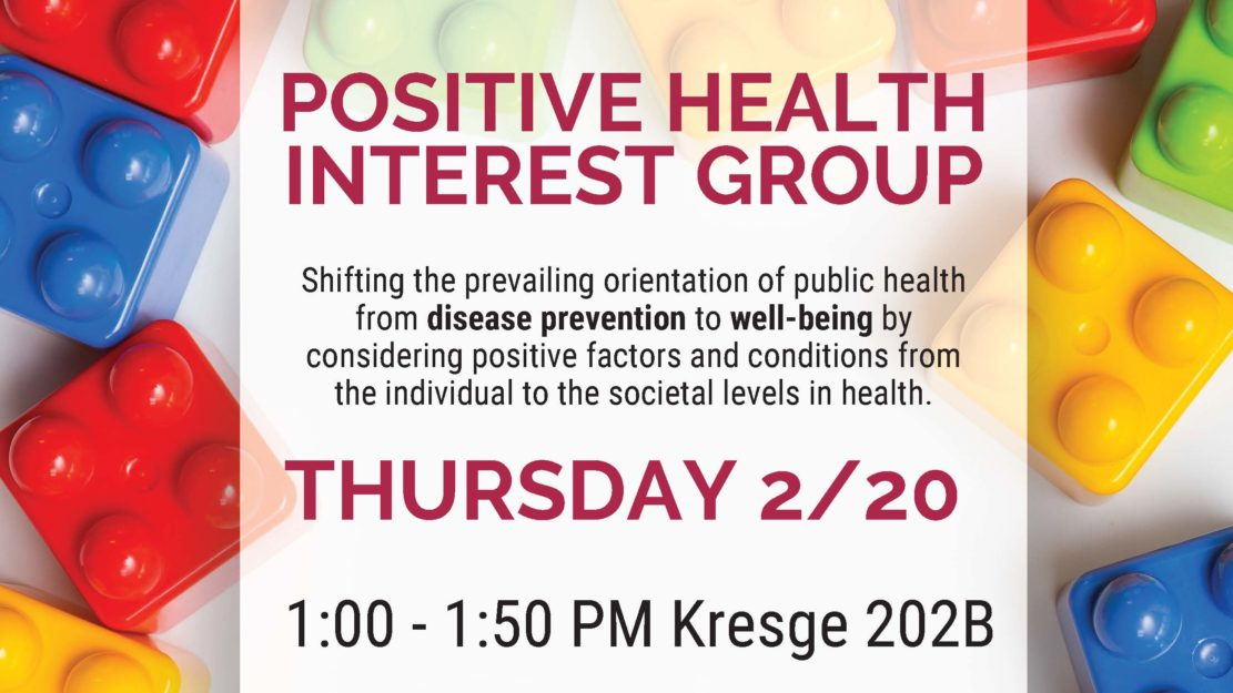 Positive Health Interest Group logo with blocks