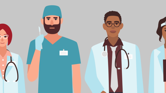 Graphic of doctors standing in a line