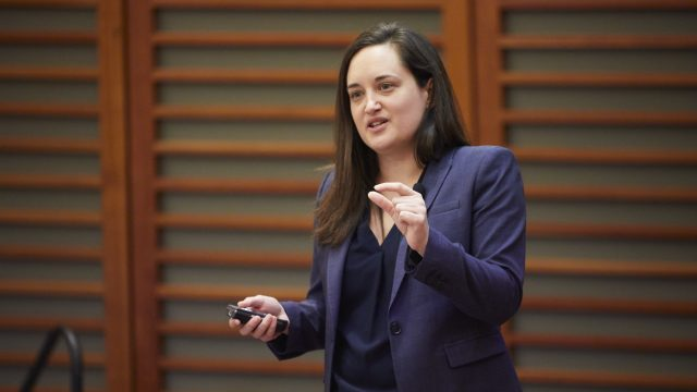 Dr. Renee Salas speaks at the Climate Change and Clinical Practice Symposium at Harvard Chan