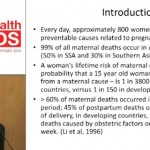 HIV and Postpartum Morbidity/Mortality