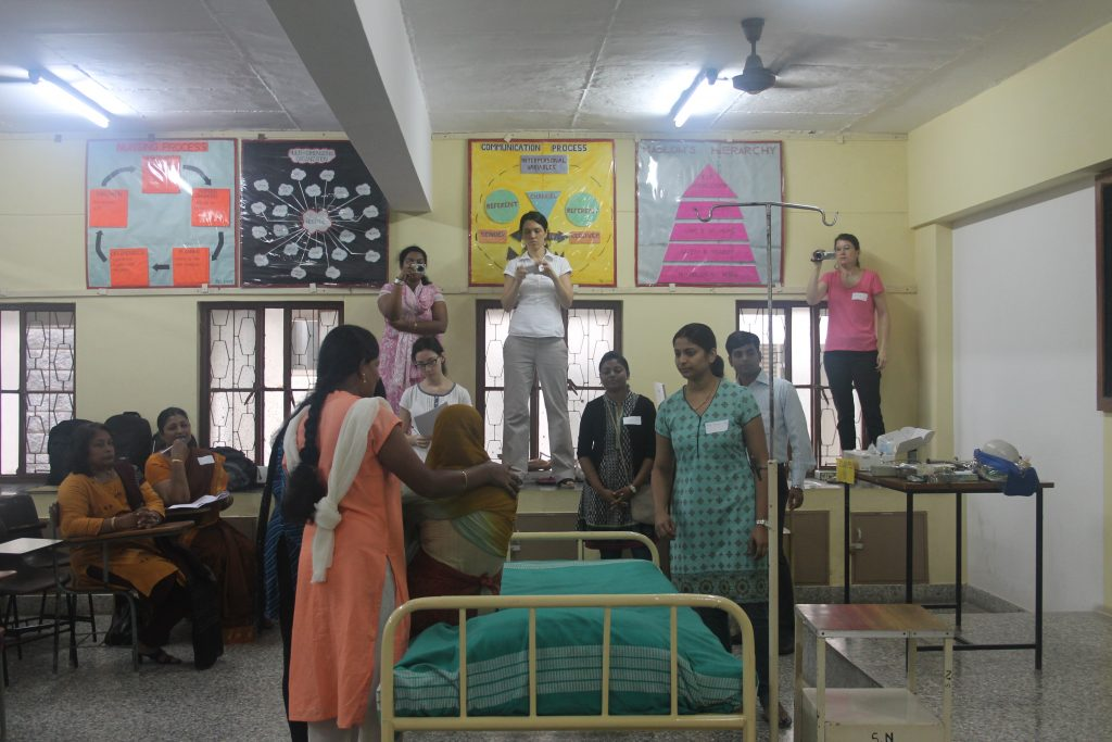 Conducting obstetric emergency drills in India, September 2013. Photo credit: Anne Austin/W&HI, MHTF.