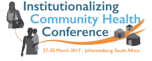 Institutionalizing Community Health Conference 2017