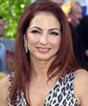LAP2002091856 - LOS ANGELES, Sept. 18 (UPI)--Recording artist Gloria Estefan poses for photographers during the 3rd Annual Latin Grammy Awards, held at the Kodak Theater, on Sept. 18, 2002 in Los Angeles. jg/mg/mg/Michael Germana UPI