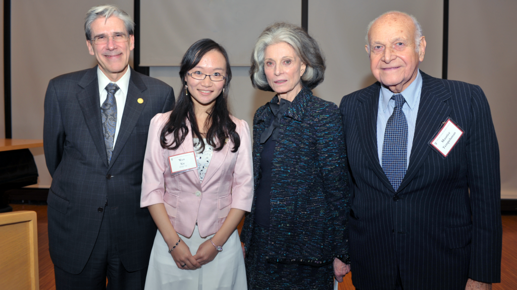Dean Julio Frenk, Wen Xie, Deeda Blair and Maurice Tempelsman Photo Steven Gilbert for HSPH