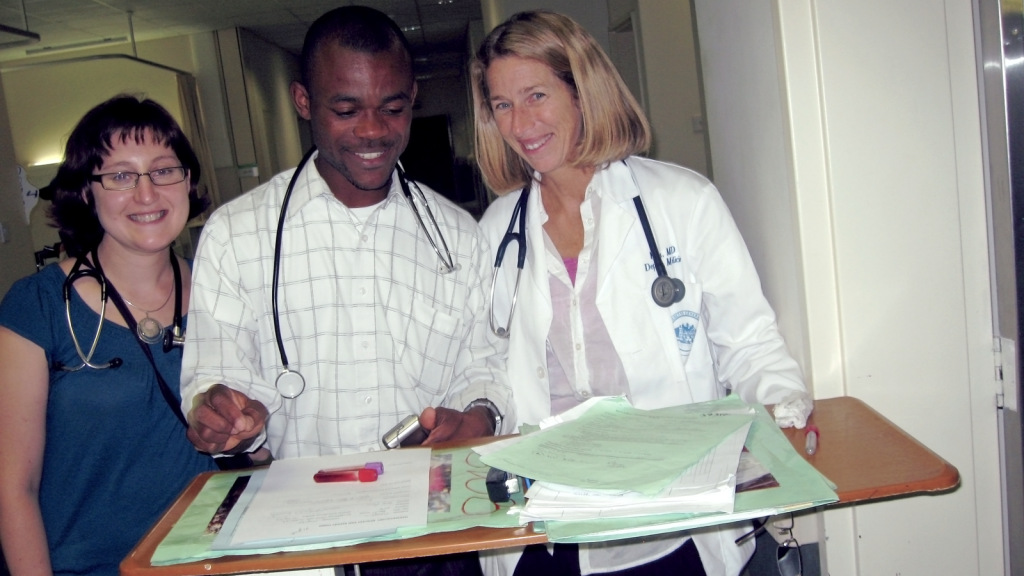 Drs. Made Afata and Kate Powis at Scottish Livingston Hospital in Molepolole, Botswana