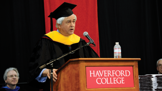 Max Essex receives an honorary Doctorate of Sciences from Haverford College