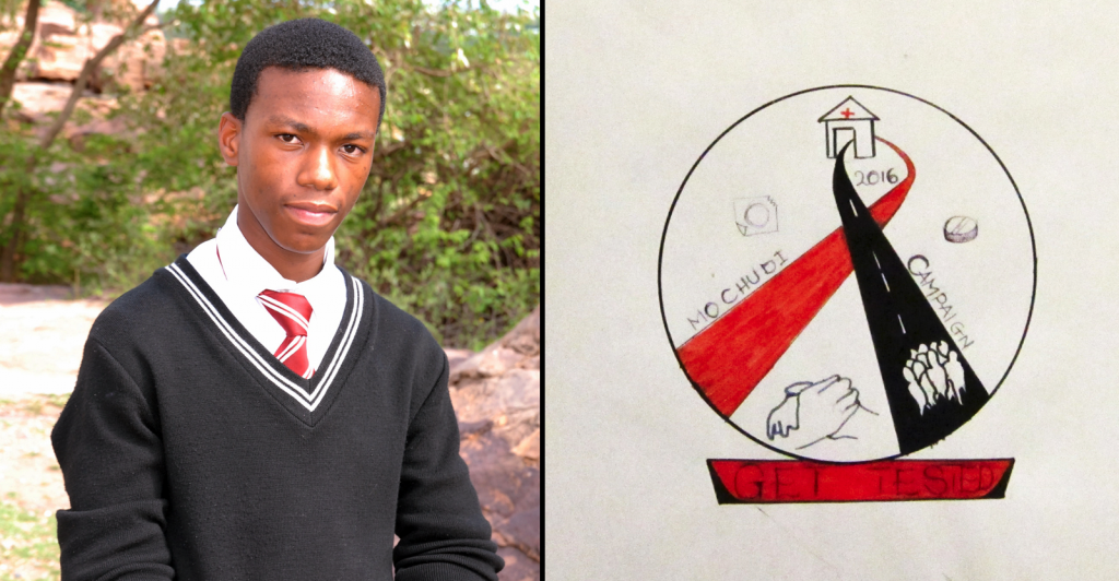 Left: Ofentse Kgari, winner; Right: winning entry