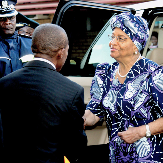 President Ellen Johnson Sirleaf of Liberia - photo by Vusi Ndaba