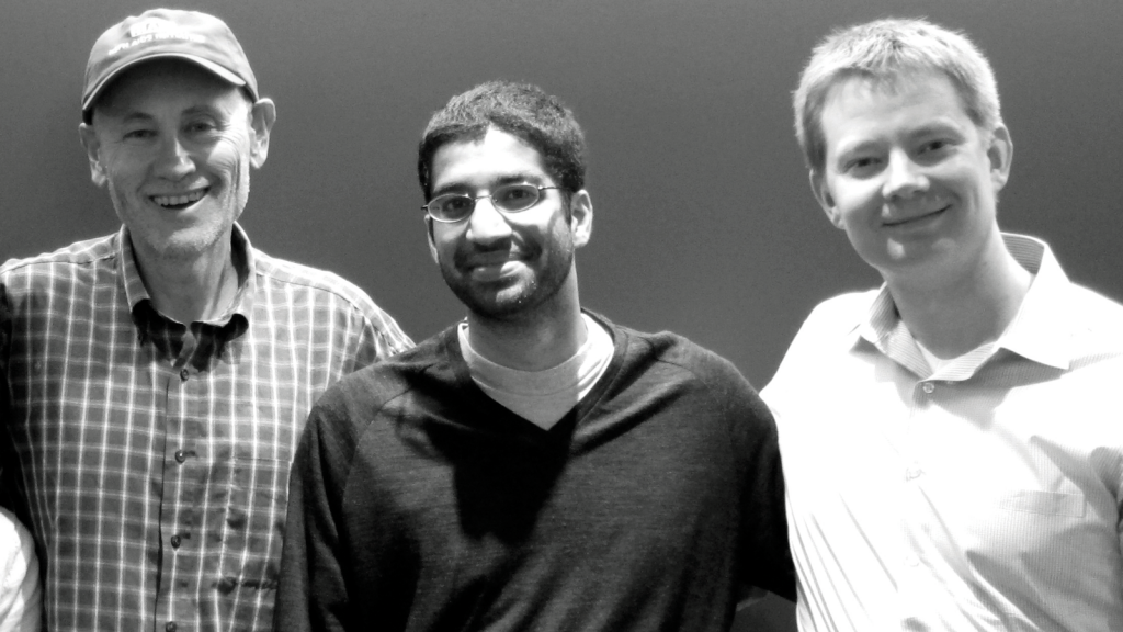 From left: Victor DeGruttola, Ravi Goyal, J.P. Onnela