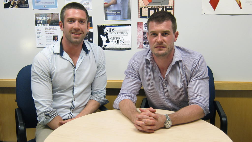 Iain MacLeod, right, with Aldatu co-founder David Riser