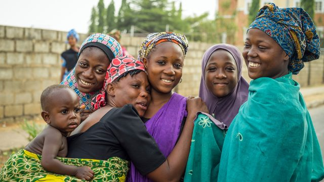 Young women in Abuja, Nigeria.