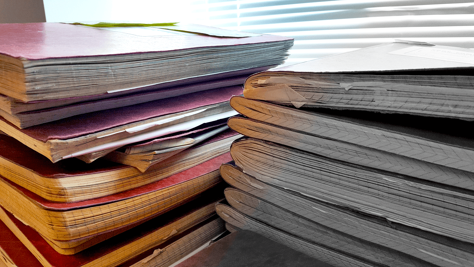Stack of Lab Notebooks