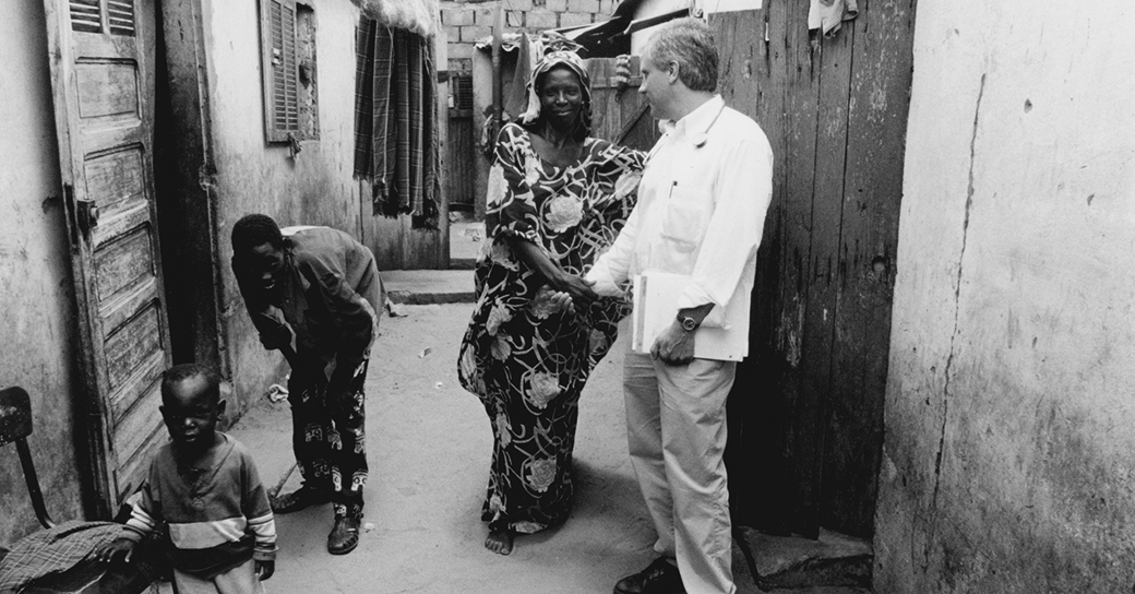 Sex worker and physician on a street in Dakar