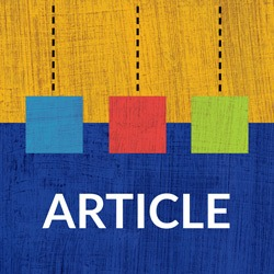 "Image of Abstract Art with ""Article"" Label"