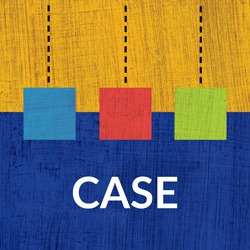 "Image of Abstract Art with ""Case"" Label"