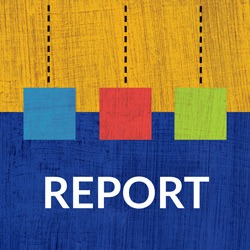 """Image of Abstract Art with """"Report"""" Label"""