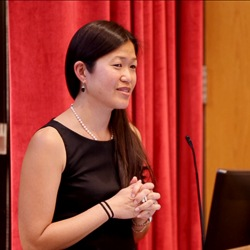 Image of Jane Kim Speaking at Tenure Event.