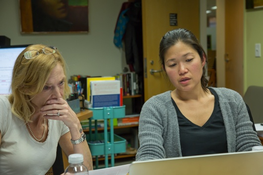 Image of Sue Goldie and Jane Kim in Meeting