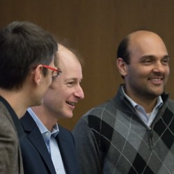 Miguel Hernan, Stephen Resch, and Vidit Munshi at Symposium.