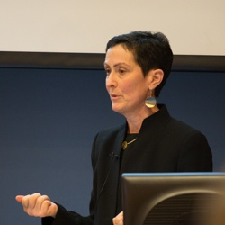 Eve Wittenberg Giving Lecture.