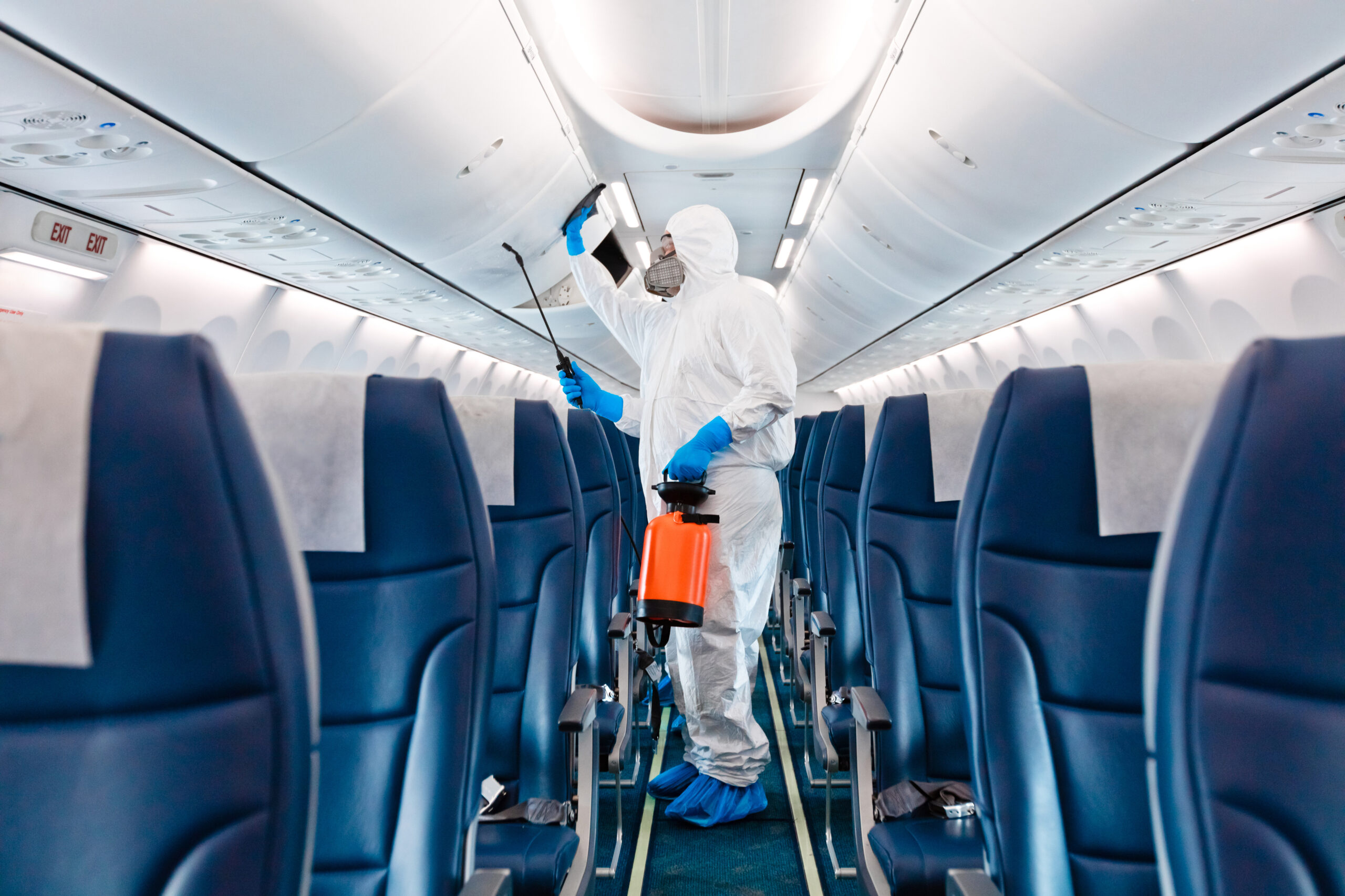 COVID-19 aircraft disinfection