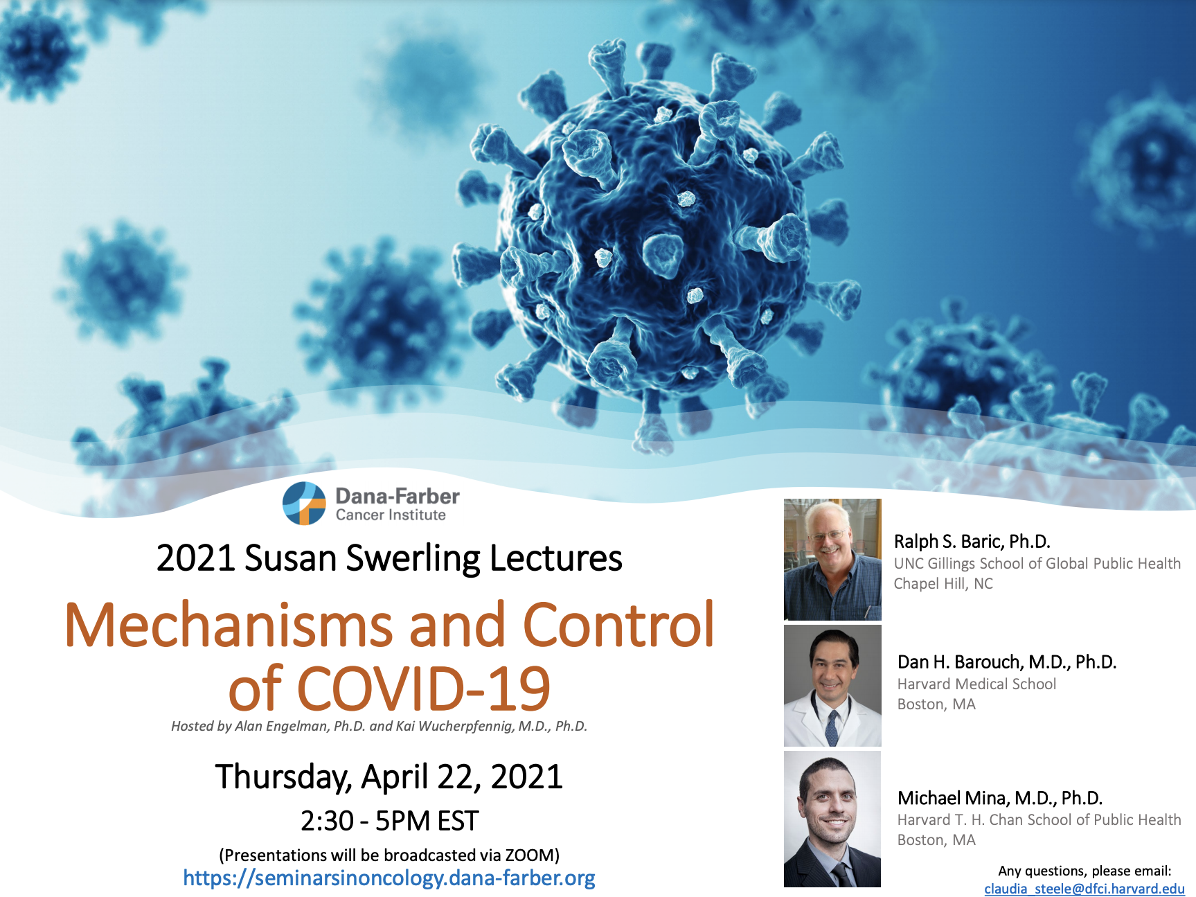 COVID-19 particles and seminar title