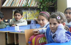 Image of Roma children in a classroom