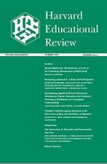 Image of Harvard Educational Review cover