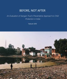 Report cover with photo from Koina India of people by the river