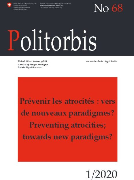 Cover of Politorbis magazine, #68, issue on Preventing Atrocities