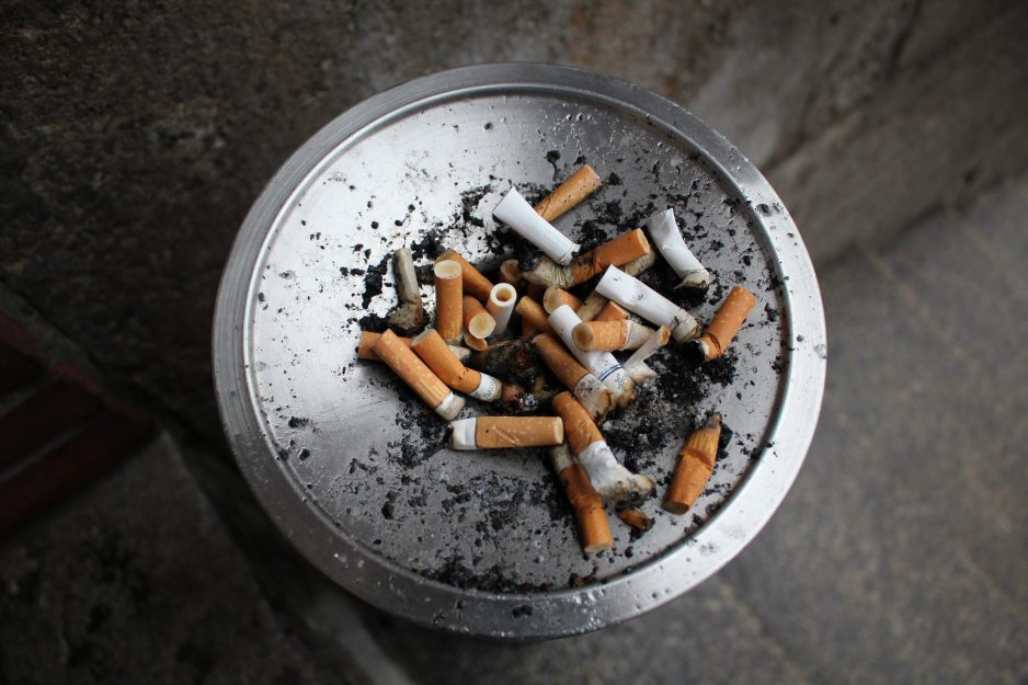 Photo of cigarette butts in ashtray