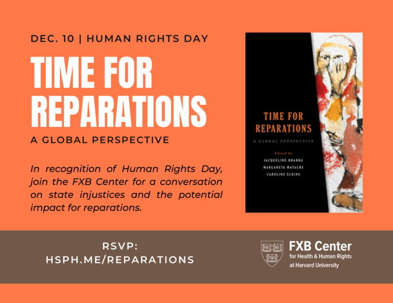 Time for Reparations Event Flyer